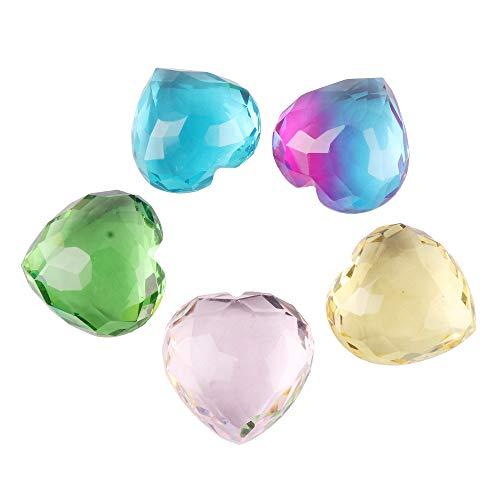 GEMHUB Piedra en forma de corazón lote de 400 quilates de ametrino multicolor, amatista, citrina, topacio azul y topacio rosa piedra suelta para joyería ASP-006