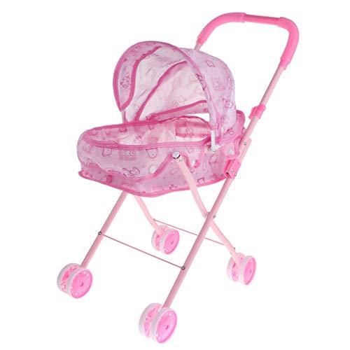 Hellery Cochecito de Bebé Plegable Carrito de Regalo Muebles para Muñecas - #3