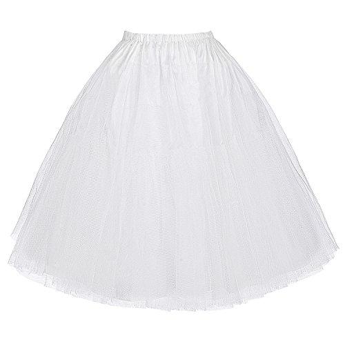 Enaguas Belle Poque? Estilo Retro, Vintage, para Vestido White(BP56-2) Medium