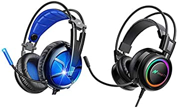 ABKONCORE Gaming Headset Combo, Virtual 7.1 PS4 Headset with Microphone, Over Ear Headset for PS4 Console, PC, Laptop, Mac