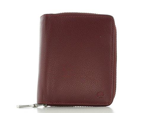 Prato Damen Geldbörse Portemonnaie Kombibörse Leder Rot