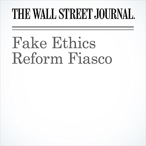 Fake Ethics Reform Fiasco cover art