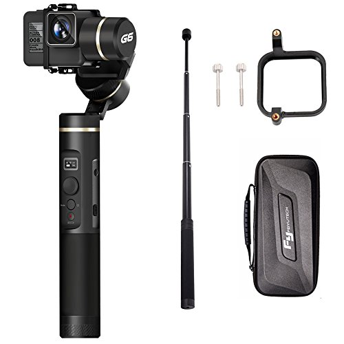 FY FEIYUTECH Feiyu G6(extension bar+Gopro sessions adapter) 3 Axis Splash Proof WIF bluetooth OLED Handheld Gimbal for GoPro Hero 6/5/4/3/Session, Sony RX0, Yi Cam 4K, AEE Action camera