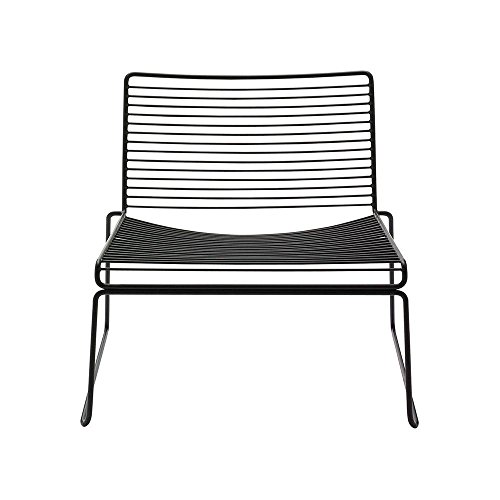 HEE Lounge Stuhl, schwarz pulverbeschichtet BxHxT 72x67x67cm für Innen- und Außenbereich geeignet