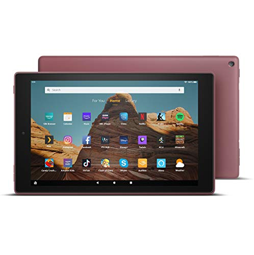 Fire HD 10 Tablet | 10.1' 1080p Full HD display, 64 GB, Plum - with Ads