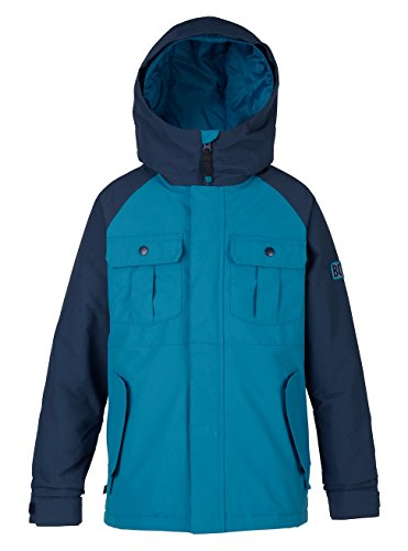 Burton Jungen Fray Jacket Snowboardjacke, Mountaineer/Mood Indigo, M