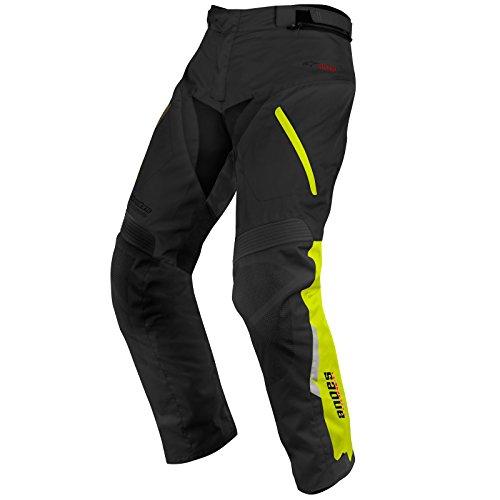 Pantalones de motocicletas Alpinestars, Andes Drystar, Alpinestar, Black Yellow Fluoro, 32' (M)