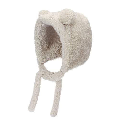 MK Matt Keely® Baby-Mütze mit Ohren, mit Fleece-Futter, für 0-15 Monate Gr. Einheitsgröße, grau
