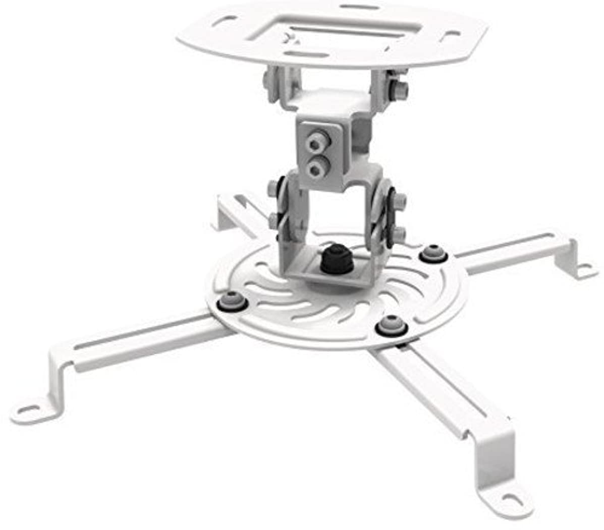 """ProHT Universal Ceiling Projector Mount(05460), Mount Accessory fit most 2.1""""-12.6"""" projector, Max Load 29.7lbs, +15~ -15°tilt, +15~ -15°swivel, 360°rotate,5.9""""Mounting profile"""