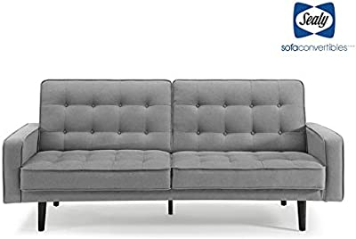 Pleasant Amazon Com Red Convertible Linen Futon Sofa Bed Couch Split Frankydiablos Diy Chair Ideas Frankydiabloscom