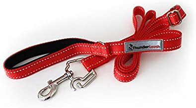 ThunderLeash No-Pull Dog Leash (Large (Over 25 lbs), Red)