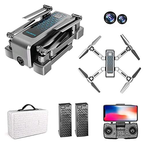 rzoizwko Drone, 4k Drone 5G WiFi transmisión en Tiempo Real, Mini Drones con cámaras duales, Drones con cámara 4K HD, posicionamiento GPS para Drones, Drone FPV con Modo de Disparo MV, 40 Minutos de