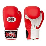Guantes de boxeo de piel genuina de diseño único, guantes de entrenamiento de boxeo para hombre y mujer, color rojo, 12 oz.