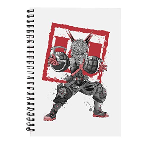 Bakugo Sumi E My Hero Academia Spiral Notebook