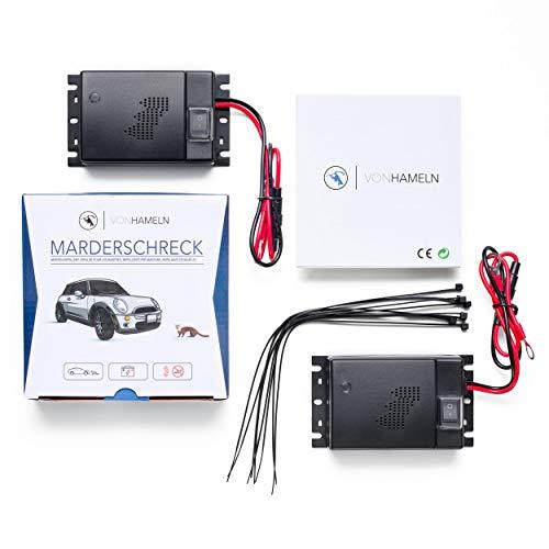 VON HAMELN® Marderschreck Auto - 2 STÜCK - Effektive Marderabwehr Auto mit Ultraschall - Sofortiger & langfristiger Marderschutz im Motorraum