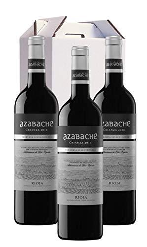 Estuche 3 Botellas Vino Crianza Denominación de Origen La Rioja Azabache Vendimia Seleccionada