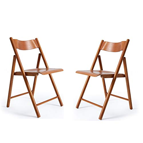 Chair QL sedierichiudibili Poltrona da Soggiorno, Sedia Pieghevole Semplice, Poltrona da Balcone per Esterni in Legno Massello per Uso Domestico Sedie Pieghevoli (Color : A)