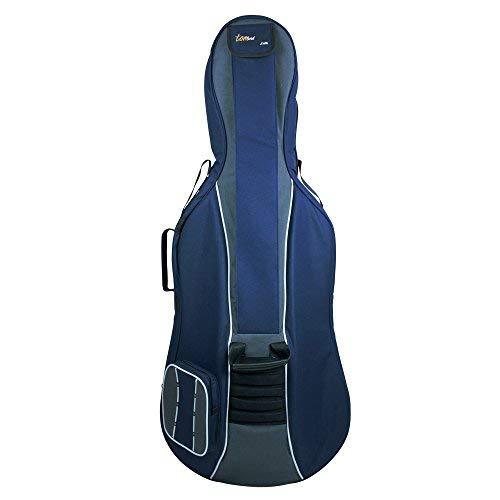 Tomandwill Classic - Custodia imbottita per violoncello 3/4, colore blu/grigio