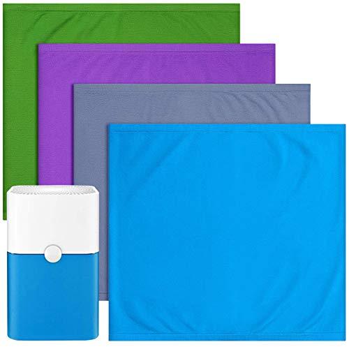 Cabiclean 4 Pack 211+ Replacement Washable Pre-Filters for Blueair Blue Pure 211+ air Purifier, Removes Pollen, Dust, Pet Dander, Color Include Lunar Rock, Diva Blue, Lavender Purple, Forest Green