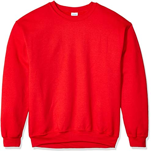 Gildan Men's Fleece Crewneck Sweatshirt, Red Small