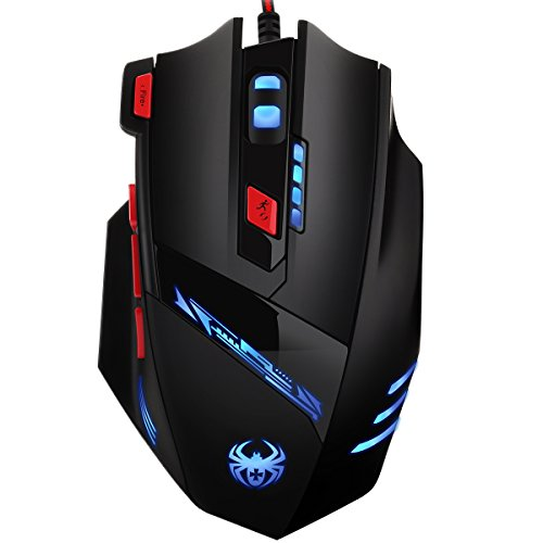 AMIR Gaming Mouse, USB Wired Optical Gaming Mice with 9200 DPI High...
