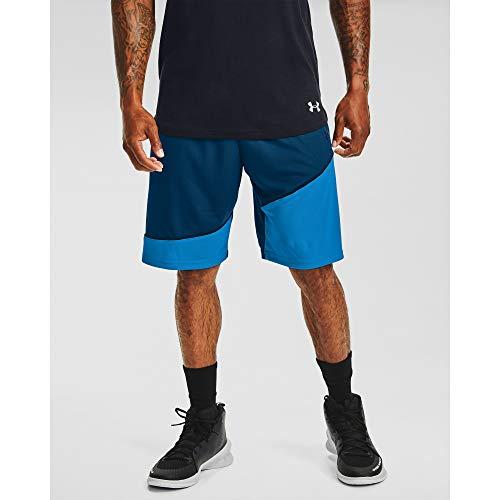 Under Armour Baseline - Pantalón Corto para Hombre (25,4 cm), Hombre, Pantalones Cortos, 1343004, Grafito Azul (581)/Negro, L