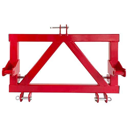 Adapter Dreipunkt, auf Euro-Norm, Dreipunktaufnahme, Kat 2, Kategorie 2, Frontlader, rot lackiert, Heckhydraulik, Euronormaufnahme, 1100 mm breit, 45 kg