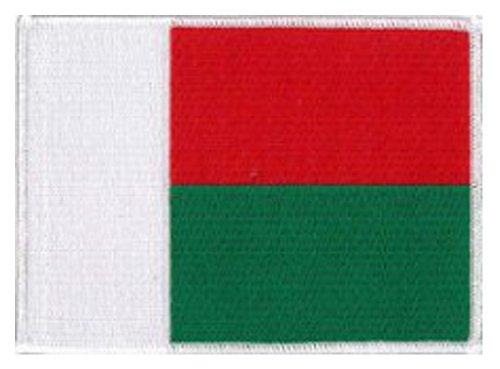 Parche bandera de Madagascar de Klicnow 12 x 9 cm