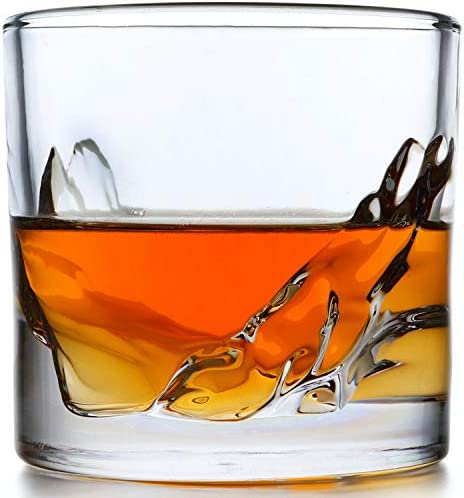 LIITON Grand Canyon Whiskey Glass Set of 4 Heavy Whisky Tumbler Best as Old Fashioned Glasses product image