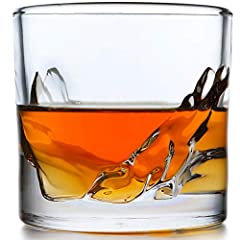THE NEW & UNIQUE LIITON MOUNTAIN WHISKEY GLASS: The Liiton is unlike any other whiskey glass currently on the market. It features a unique mountain range design running along the side of the glasses. The mountainside rocks and stone design gently aer...
