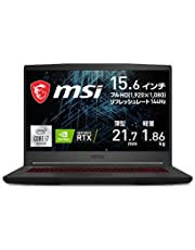 【NVIDIA最新RTX3060搭載・薄型軽量】MSIゲーミングノートPC GF65 1.86Kg i7 RTX3060/15.6FHD/144Hz/16GB/512GB/GF65-10UE-258JP【Windows 11 無料アップグレード対応】