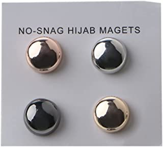 DAIMANPU Strong Metal Plating Magnetic Hijab Clip Safe Hijab Brooch Luxury Accessory No Hole Pins Brooch Magnet for Muslim...