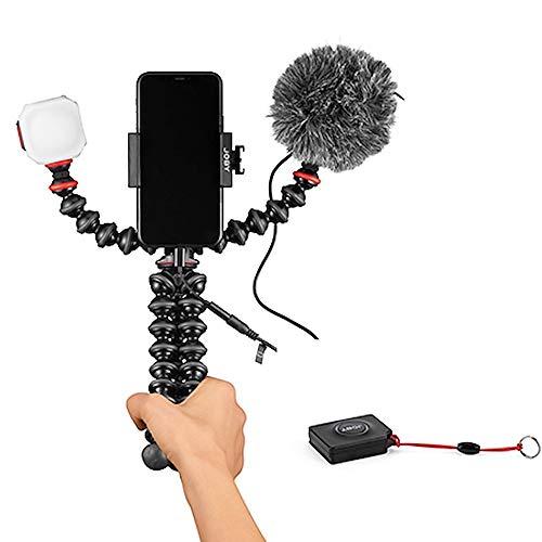 JOBY GorillaPod Mobile Vlogging Kit con Telecomando Bluetooth Impulse, Supporto per Smartphone, Compatibile con Wavo Mobile, Beamo Mini, Treppiede Flessibile, Microfono, Flash, per Content Creator