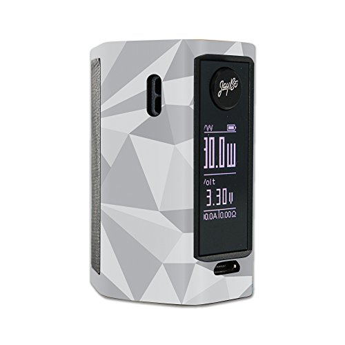 MightySkins Skin Compatible with Wismec Reuleaux RX Mini – Gray Polygon | Protective, Durable, and Unique Vinyl Decal wrap Cover | Easy to Apply, Remove, and Change Styles | Made in The USA