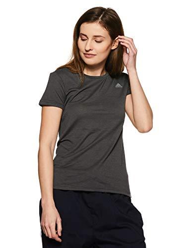 adidas Damen Freelift Prime Kurzarm T-Shirt, Dark Grey Heather, S