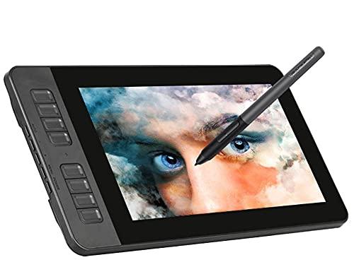 Xyfw Monitor De Tableta De Dibujo IPS HD Pantalla De Pintura Gráfica con 8 Teclas De Acceso Directo Y Lápiz Pasivo De 8192 Niveles