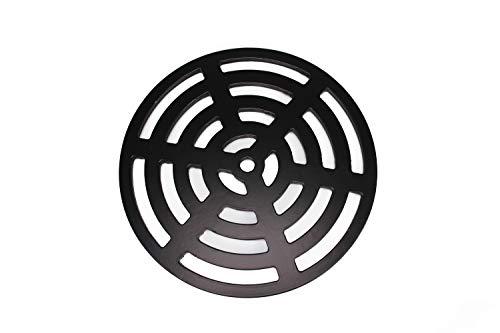 Lakeland Steel Ltd Grille d/évacuation de leau carr/ée en acier r/ésistant Noir 165 mm x 16,5/cm