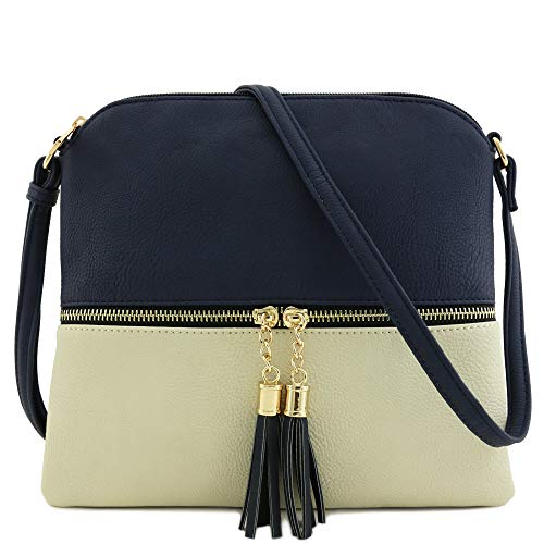 """DISCLAIMER: Authentic DELUXITY bags must have a DELUXITY hangtag 10"""" (W) x 9"""" (H) x 0.5"""" (D) Zipper closure & front zipper is a functional pocket Adjustable shoulder strap with 25.5"""" drop Faux leather & gold tone hardware 1 zipper pocket & 1 open poc..."""