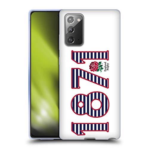 Head Case Designs Official England Rugby Union 1871 Paisaje 2016/17 La Rosa Carcasa de Gel de Silicona Compatible con Samsung Galaxy Note20 / 5G