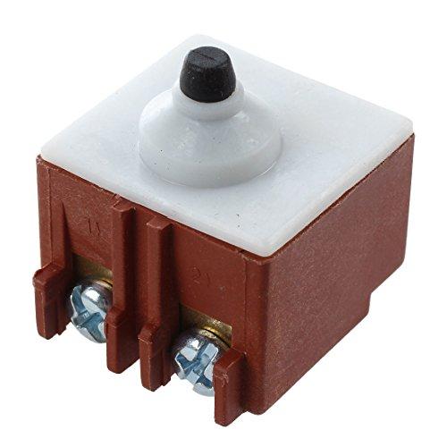 Cikuso Amoladora angular AC 250V 6A 125V / 12A Interruptor de pulsador DPST para Bosch 6-100