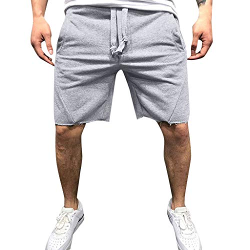 TIMEMEAN Shorts Herren Beiläufig Joggen Gummizug In Der Taille Sport Kurze Hose