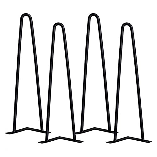 4Pcs Heavy Duty Desk Legs 41Cm Hairpin Table Legs For Bench/Laptop Desk Black Home