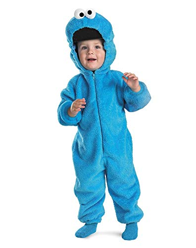 Sesame Street Cookie Monster Deluxe Two-Sided Plush Jumpsuit Costume - Small (2T)