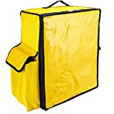 CityBAG - Mochila isotérmica 39 x 50 x 25 cm Amarilla para Entrega de Pedidos de Comida en Moto y Bicicleta