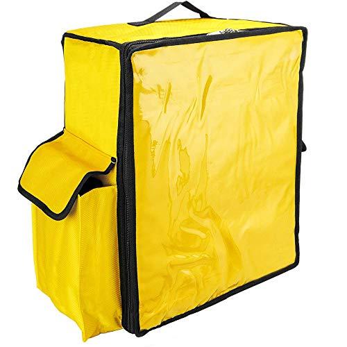 CityBAG - Mochila isotérmica 49 x 50 x 23 cm Amarilla para Entrega de Pedidos de Comida en Moto y Bicicleta