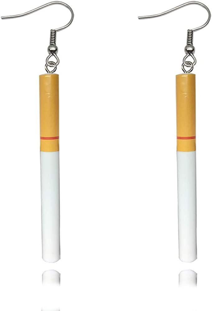 High order TUSHUO Cigarette Butts Wine Bottle Dangle Cup Earring sale Cool Beer