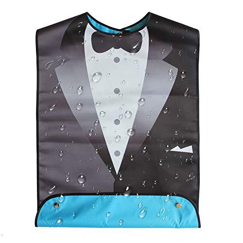 Babero Adulto Divertido, traje de baberos adultos para hombres Bañadores impermeables de bandana para ancianos - 1 pieza