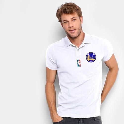 Camisa Polo Do Golden State Warriors - Nba - 100% Bordada Tamanho:GG;Cor:Azul