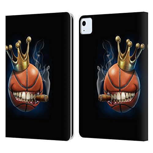 Head Case Designs Licenciado Oficialmente Tom Wood Rey del Baloncesto Monstruos Carcasa de Cuero Tipo Libro Compatible con Apple iPad Air (2020)