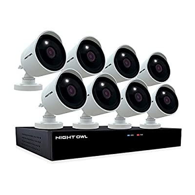 Night Owl CCTV Video Home Security Camera System with 8 Wired 4K Ultra HD Indoor/Outdoor Cameras with Night Vision and 2TB Hard Drive